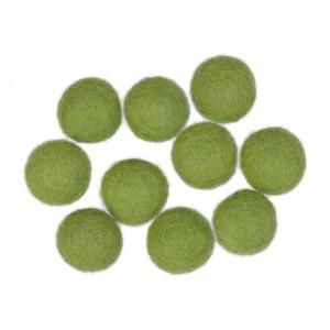 Filtkugler 20mm Grøn GN4 - 10 stk