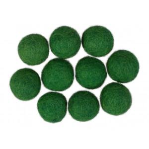 Diverse Filtkugler 20mm mørkegrøn gn10 - 10 stk fra rito.dk