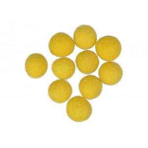 Diverse – Filtkugler 20mm gul y1 - 10 stk fra rito.dk