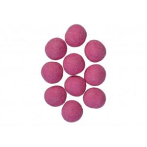 Filtkugler 20mm rosa p1 - 10 stk fra Diverse fra rito.dk