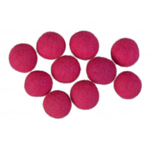 Diverse – Filtkugler 20mm pink p3 - 10 stk på rito.dk