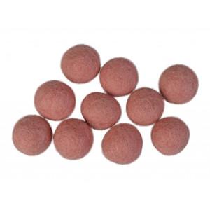 Filtkugler 20mm Lys Rosa P6 - 10 stk