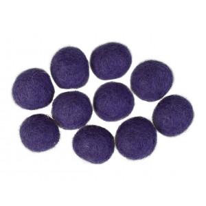 Filtkugler 20mm Mørk Lilla V1 - 10 stk