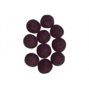 Filtkugler 20mm Lilla Blomme V5 - 10 stk