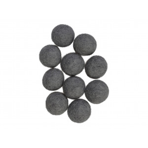 Filtkugler 20mm Grå GY1 - 10 stk