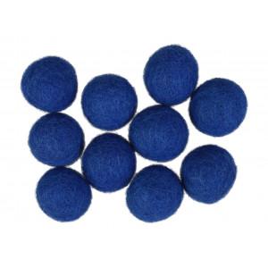 Diverse Filtkugler 20mm blå bl1 - 10 stk fra rito.dk