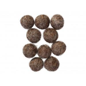 Filtkugler 20mm Mørkegrå Natur Mix - 10 stk