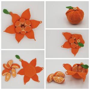 Karlas Appelsin af Rito Krea - Frugt Hækleopskrift 22cm