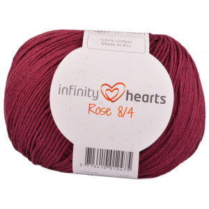 Infinity Hearts Rose 8/4 Garn Unicolor 24 Bordeaux Rød