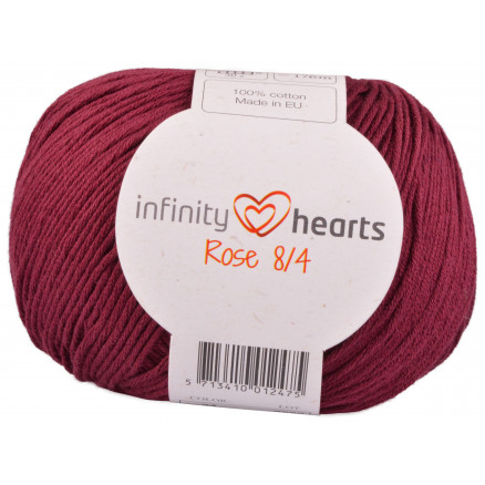 Image of   Infinity Hearts Rose 8/4 Garn Unicolor 24 Bordeaux Rød