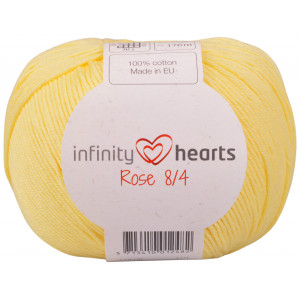 Infinity Hearts Rose 8/4 Garn Unicolor 177 Lys Gul