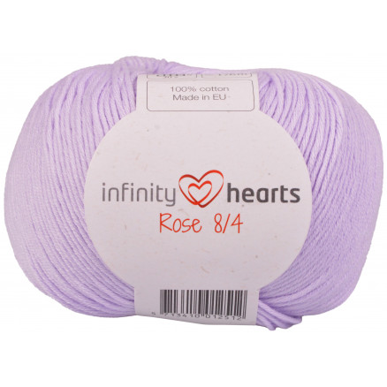 Image of   Infinity Hearts Rose 8/4 Garn Unicolor 66 Lys Lilla