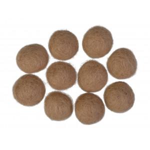 Filtkugler 20mm Lys Brun W6 - 10 stk
