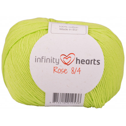 Image of   Infinity Hearts Rose 8/4 Garn Unicolor 145 Lime Grøn