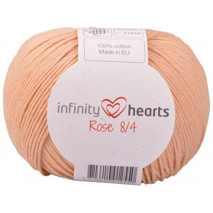Image of   Infinity Hearts Rose 8/4 Garn Unicolor 242 Lys Terracotta