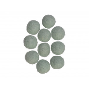 Filtkugler 20mm Lys Mintgrøn W5  - 10 stk