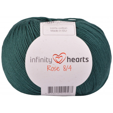 Image of   Infinity Hearts Rose 8/4 Garn Unicolor 241 Petrol Grøn