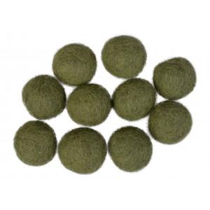 Filtkugler 20mm Støvet Grøn GN9 - 10 stk