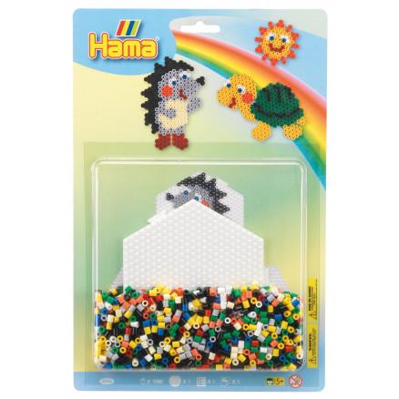 Hama Midi Blisterpak 4206 Pindsvin/Skildpadde 1100 Perler & 2 Perlepla thumbnail