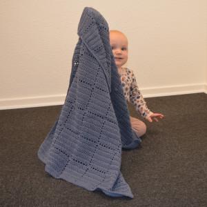 Nordic Baby Merino Babytæppe af Rito Krea - Baby Tæppe Hækleopskrift 70x100cm