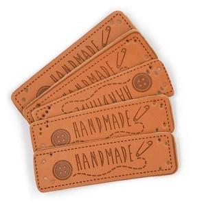 Label Læder Handmade 5x1,5 cm - 5 stk