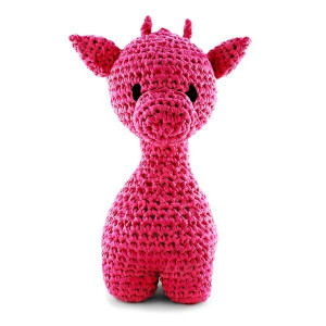 Hoooked maxigurumi hæklekit giraffen ziggy hot pink fra Hoooked fra rito.dk