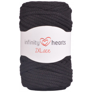 Infinity Hearts 2XLace Garn 02 Sort