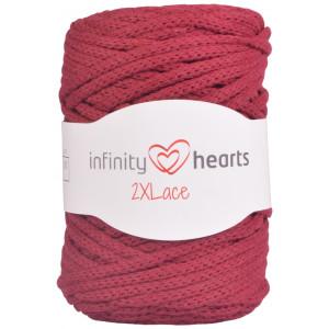 Infinity Hearts 2XLace Garn 30 Bordeaux Rød