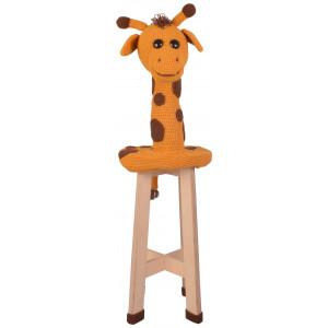 Giraf Skammel af Rito Krea - Skammel betræk Hækleopskrift