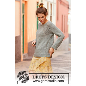 Stone Fields by DROPS Design - Bluse Strikkeopskrift str. S - XXXL