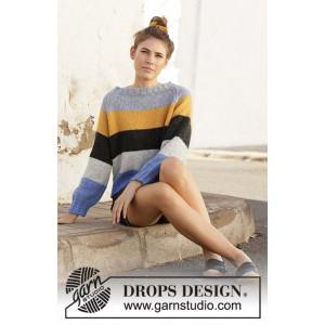 Valencia by DROPS Design - Bluse Strikkeopskrift str. S - XXXL