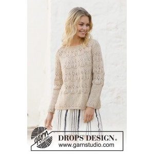Birch Woods by DROPS Design - Bluse Strikkeopskrift str. S - XXXL