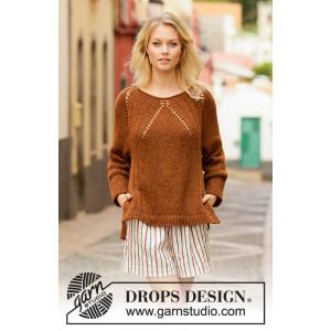 Autumn Spice by DROPS Design - Bluse Strikkeopskrift str. S - XXXL