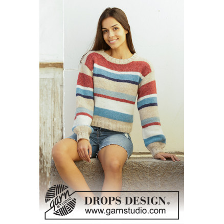 Image of   Bretagne by DROPS Design - Bluse Strikkeopskrift str. S - XXXL
