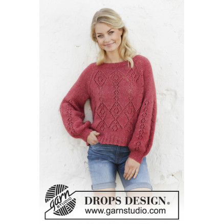 Image of   Berry Diamond by DROPS Design - Bluse Strikkeopskrift str. S - XXXL