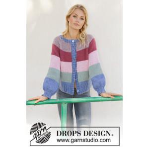 Sweet Country Sunrise Jacket by DROPS Design - Jakke Strikkeopskrift str. S - XXXL