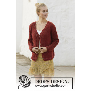 Robin Song Jacket by DROPS Design - Jakke Strikkeopskrift str. S - XXXL