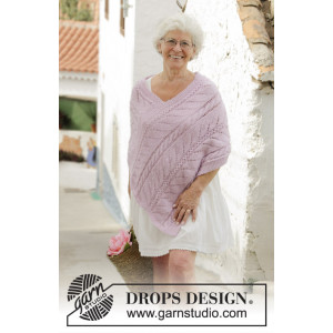 Sweet Nancy by DROPS Design - Poncho Strikkeopskrift str. S/M - XXL/XXXL