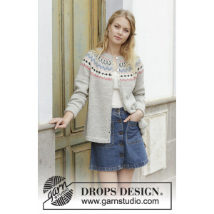Mina Cardigan by DROPS Design - Jakke Strikkeopskrift str. S - XXXL