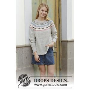 Mina Pulloverby DROPS Design - Bluse Strikkeopskrift str. S - XXXL