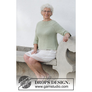 Summer Evening Jumper by DROPS Design - Bluse Strikkeopskrift str. S - XXXL