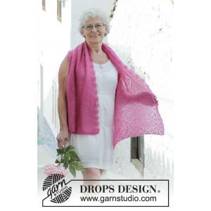 Rosenquarzby DROPS Design - Tørklæde Strikkeopskrift 136x46 cm