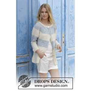 Sailor's Luck Cardigan by DROPS Design - Jakke Strikkeopskrift str. S - XXXL