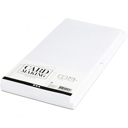 Image of   Kort og kuverter, kort str. 15x15 cm, kuvert str. 16x16 cm, hvid, 50sæ