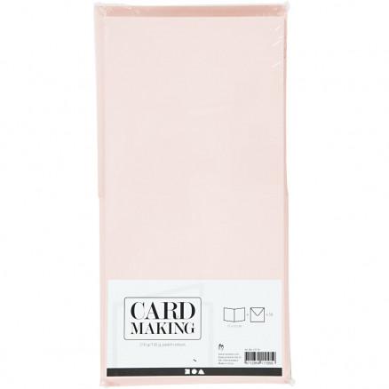 Image of   Kort og kuverter, kort str. 15x15 cm, kuvert str. 16x16 cm, pastelfarv