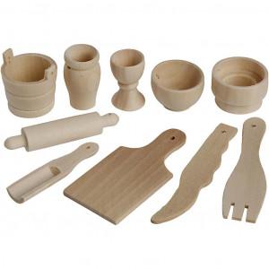 Køkkenredskaber til nisser 40-60mm - 50 stk