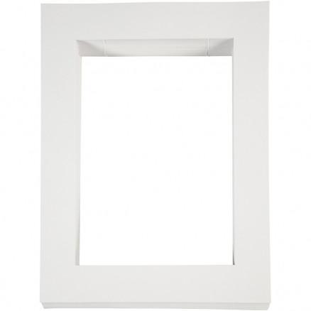 Image of   Passepartoutrammer , str. 28,5x37 cm, udskæring: 19,8x28 cm, hvid, A4,