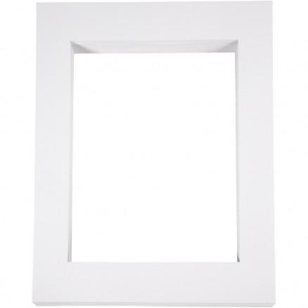 Image of   Passepartoutrammer , str. 40x50 cm, udskæring: 28,5x37 cm, hvid, A3, 1