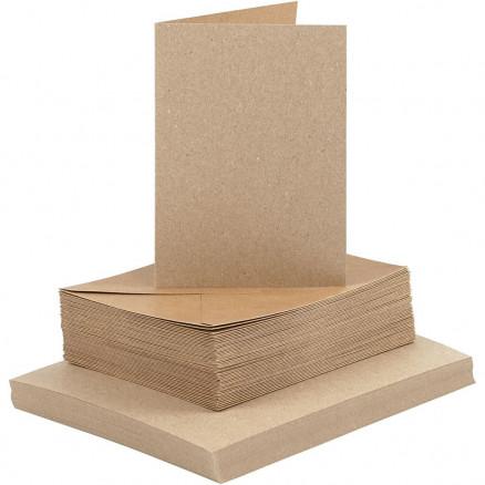 Image of   Kort og kuverter, kort str. 10,5x15 cm, kuvert str. 11,5x16,5 cm, natu