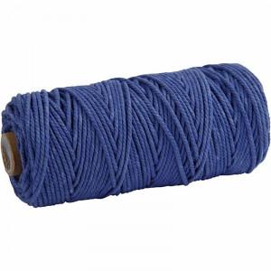 Knyttegarn / Knyttesnor Blå 2mm 100m